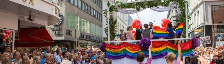 Som i Pride-paraden